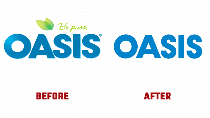 Oasis Before and After Logo (history)