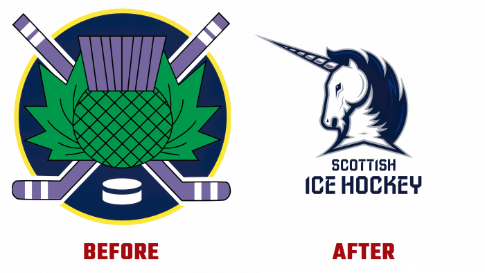 Scottish Ice Hockey Before and After Logo (history)
