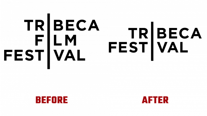 Tribeca Festival Before and After Logo (history)
