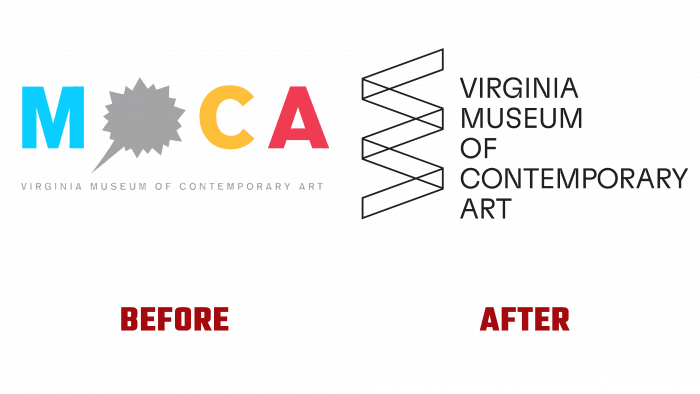 Virginia Museum of Contemporary Art Before and After Logo (history)