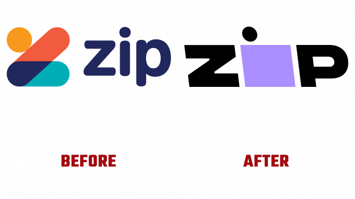 Zip Before and After Logo (history)