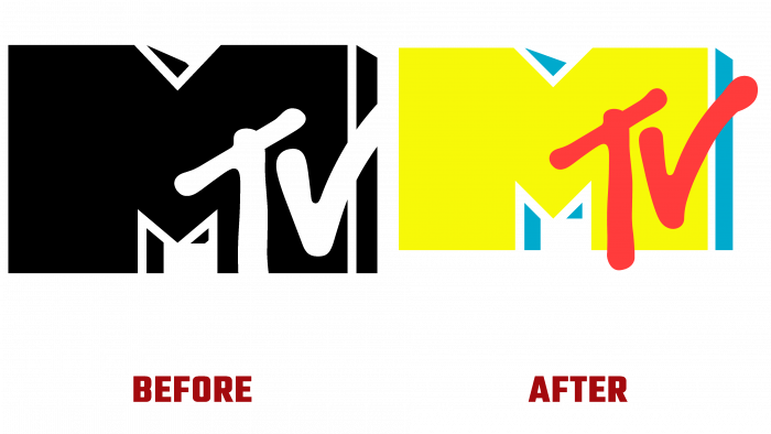 MTV Before and After Logo (history)