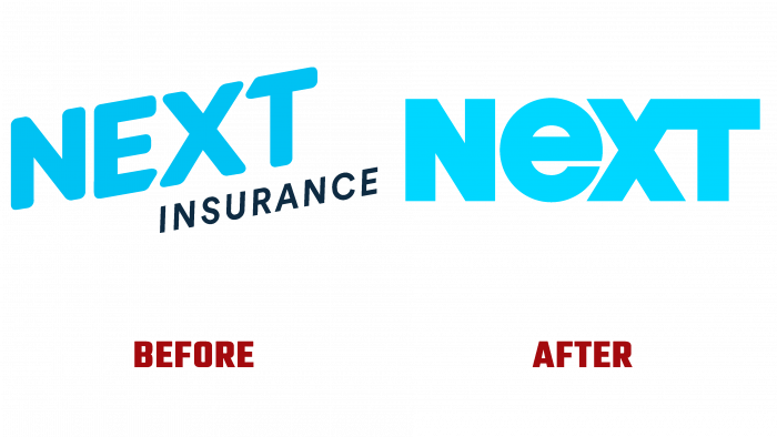 Next Insurance Before and After Logo (history)