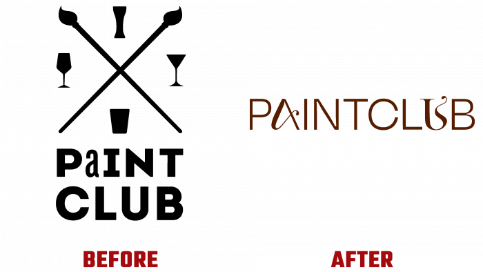 Paintclub Before and After Logo (history)